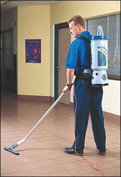 backpack vacuuming