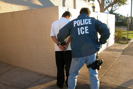 ice officer making an arrest resized 600