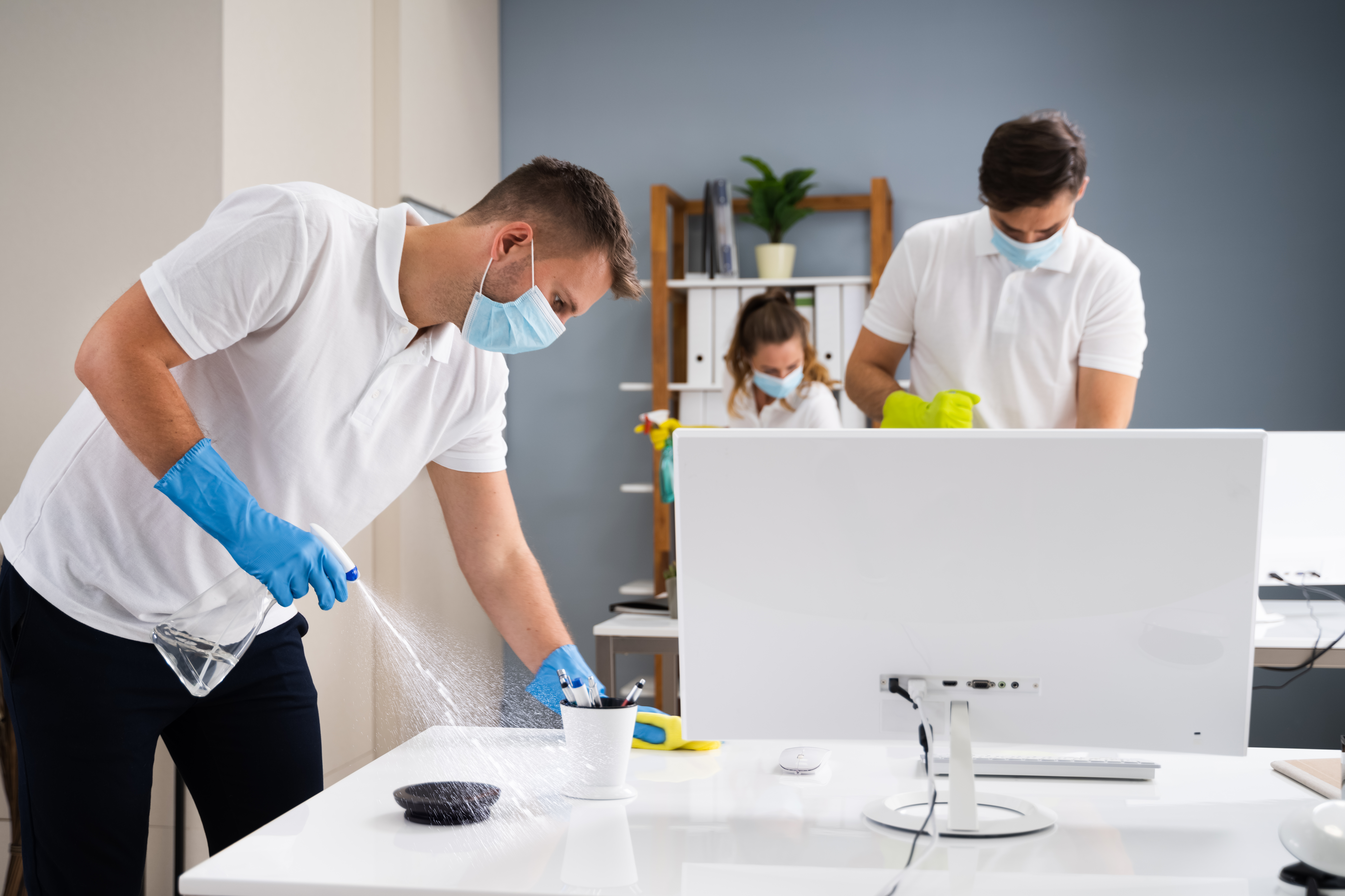 Professional Janitorial Services Cleaning Office Building